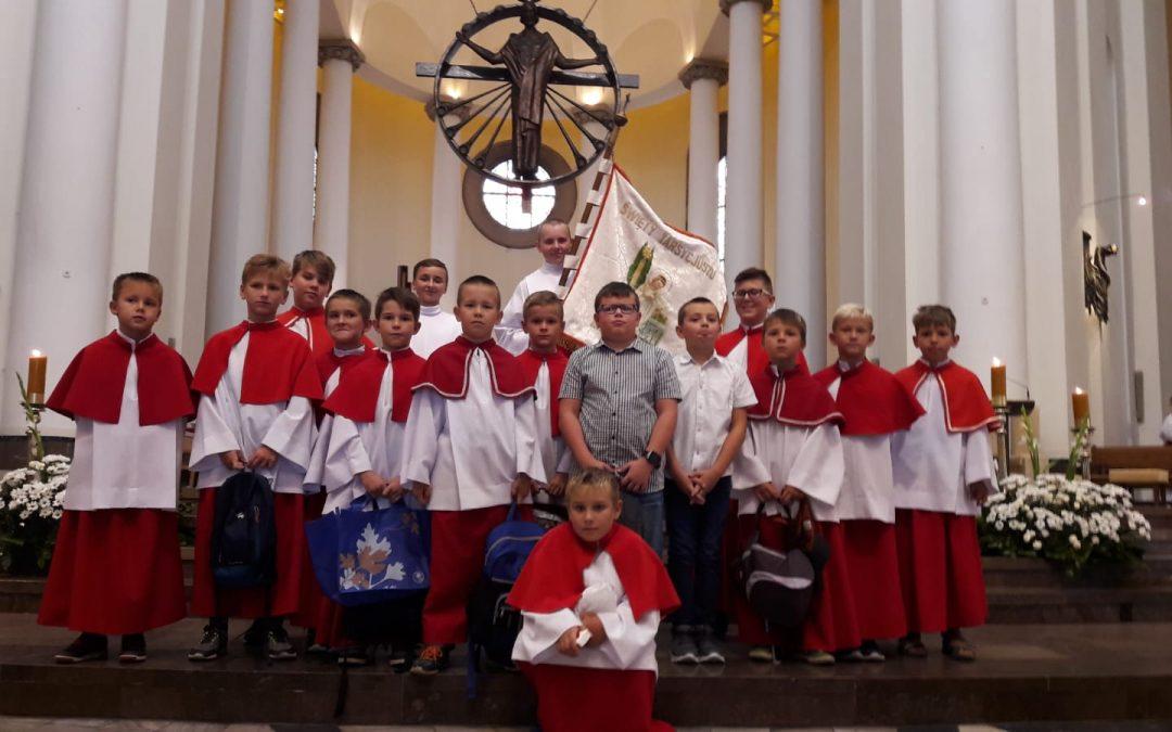 Powakacyjna pielgrzymka ministrantów archidiecezji do katowickiej katedry
